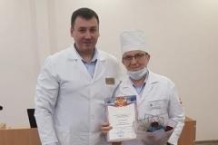 За многолетний добросовестный труд и в связи с 60-летним юбилеем награжден Почетной грамотой Курбангалеев Вакиф Мубаракзянович, заведующий кабинетом ультразвуковой диагностики!